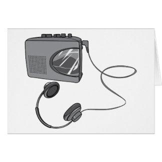 Magnetófono portátil de casete tarjeta de felicitación