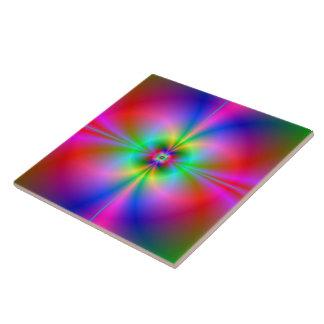 Magnetosfera colorida azulejo cuadrado grande