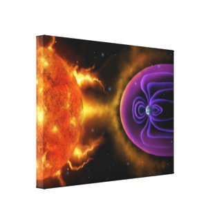 Magnetosfera - lona de arte de la ciencia espacial impresiones en lona