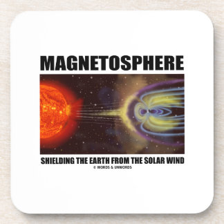 Magnetosphere Shielding Earth From Solar Wind Beverage Coaster