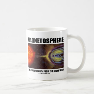 Magnetosphere Shielding Earth From Solar Wind Coffee Mug