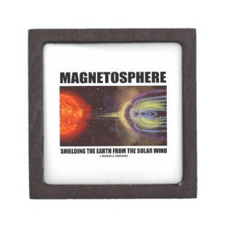 Magnetosphere Shielding Earth From Solar Wind Jewelry Box