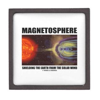 Magnetosphere Shielding Earth From Solar Wind Keepsake Box