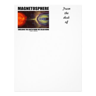 Magnetosphere Shielding Earth From Solar Wind Letterhead
