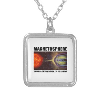 Magnetosphere Shielding Earth From Solar Wind Necklaces