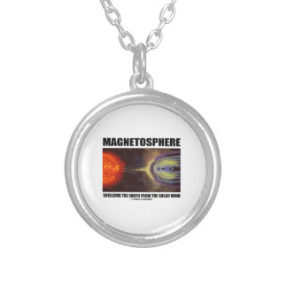 Magnetosphere Shielding Earth From Solar Wind Personalized Necklace