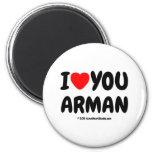 i [Love heart] you arman i [Love heart] you arman Magnets
