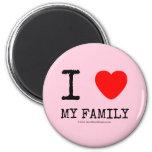 i [Love heart]  my family i [Love heart]  my family Magnets