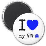 i [Love heart]  my vw [Campervan]  i [Love heart]  my vw [Campervan]  Magnets