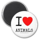 I Love Heart Animals Magnets