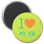 i [Love heart]  my job i [Love heart]  my job Magnets