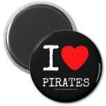 i [Love heart]  pirates i [Love heart]  pirates Magnets