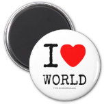 I Love Heart World Magnets