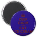 [Crown] keep calm and eat ice-cream  Magnets