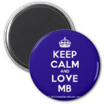 [Crown] keep calm and love mb  Magnets