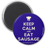 [Chef hat] keep calm and eat sausage  Magnets