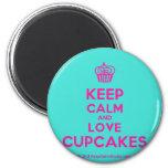 [Cupcake] keep calm and love cupcakes  Magnets