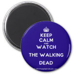 [Crown] keep calm and watch the walking dead  Magnets