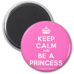 [Crown] keep calm and be a princess  Magnets