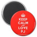 [Crown] keep calm and love pj  Magnets