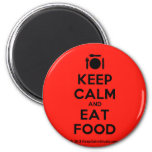 [Cutlery and plate] keep calm and eat food  Magnets