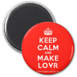 [Crown] keep calm and make lovr  Magnets