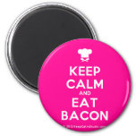 [Chef hat] keep calm and eat bacon  Magnets