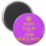[Smile] keep calm and join moko.mobi  Magnets