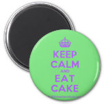 [Crown] keep calm and eat cake  Magnets