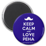 [Moustache] keep calm and love peha  Magnets