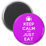 [Cutlery and plate] keep calm and just eat  Magnets