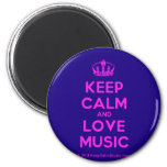 [Dancing crown] keep calm and love music  Magnets