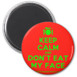 [Cutlery and plate] keep calm and don't eat my face  Magnets