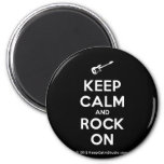 [Electric guitar] keep calm and rock on  Magnets