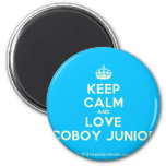 [Crown] keep calm and love coboy junior  Magnets
