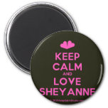 [Two hearts] keep calm and love sheyanne  Magnets
