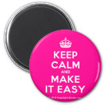 [Crown] keep calm and make it easy  Magnets