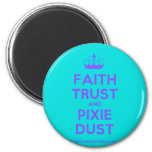 [Knitting crown] faith trust and pixie dust  Magnets