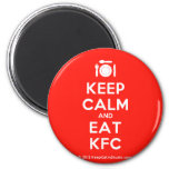 [Cutlery and plate] keep calm and eat kfc  Magnets