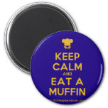[Chef hat] keep calm and eat a muffin  Magnets