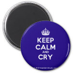 [Crown] keep calm and cry  Magnets