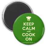 [Chef hat] keep calm and cook on  Magnets