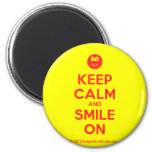 [Smile] keep calm and smile on  Magnets