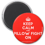 [Crown] keep calm and pillow fight on  Magnets