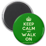 [Crown] keep calm and walk on  Magnets