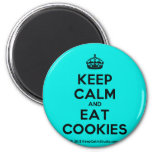 [Crown] keep calm and eat cookies  Magnets