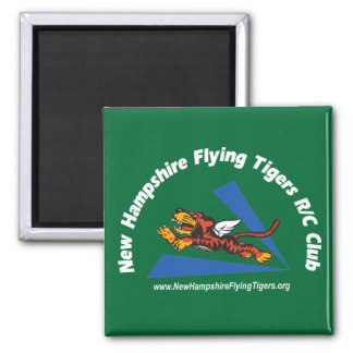 Magnets, dark-color, with NH Flying Tigers logo 2 Inch Square Magnet