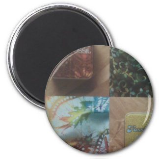 (Magnets, fossil desing) 2 Inch Round Magnet