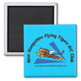 Magnets, light-color, with NH Flying Tigers logo 2 Inch Square Magnet