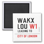 WAKX LOU  Magnets (more shapes)